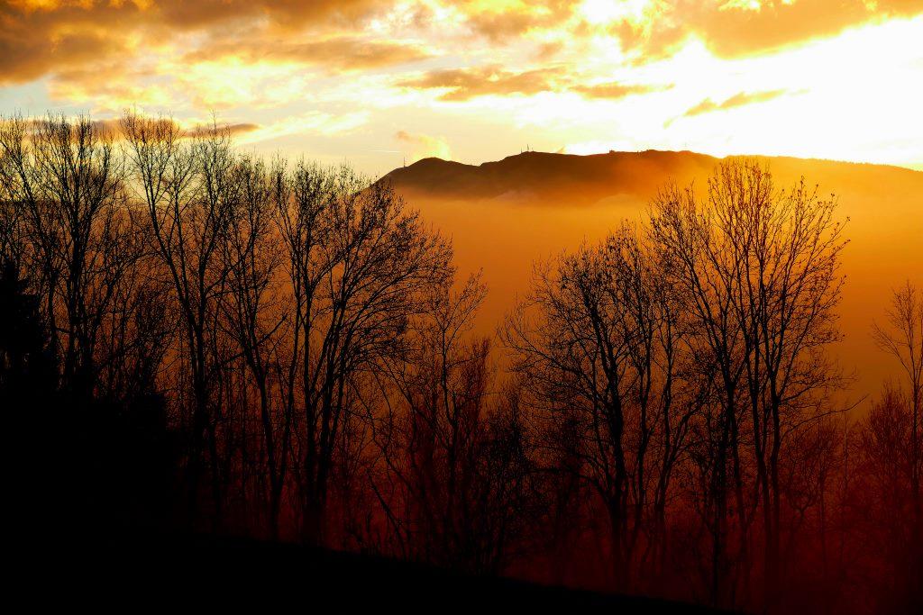 Bruma al tramonto